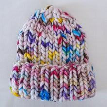 Load image into Gallery viewer, Greyknit Chunky Knit Beanie in Sprinkle