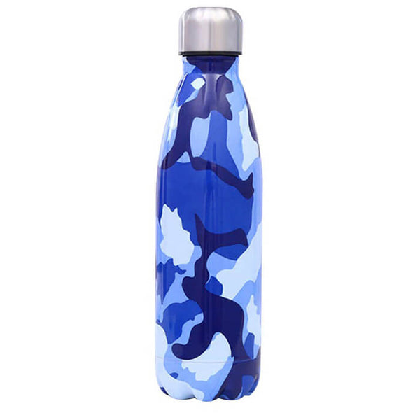 Bouteille isotherme militaire bleue