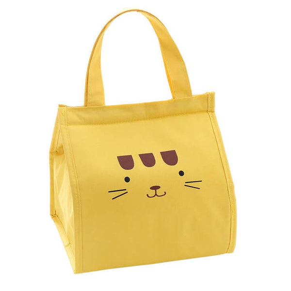 Lunch bag enfant isotherme jaune chat