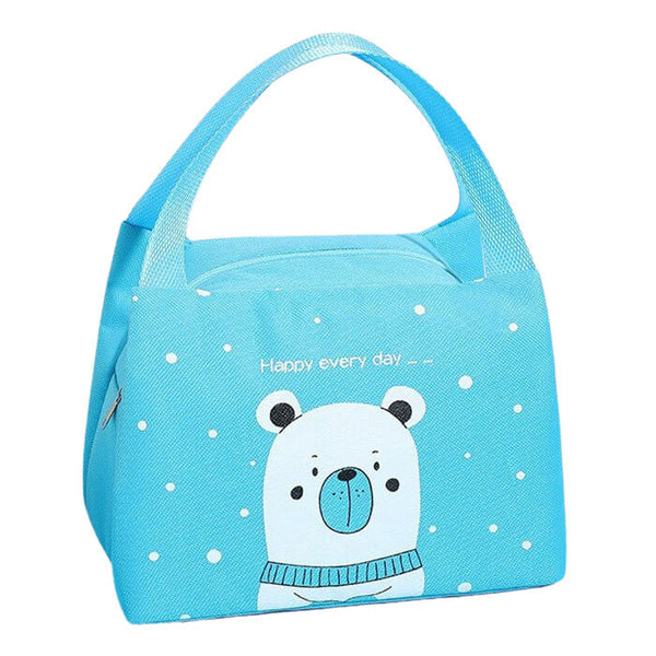 Lunch bag enfant isotherme bleu ours