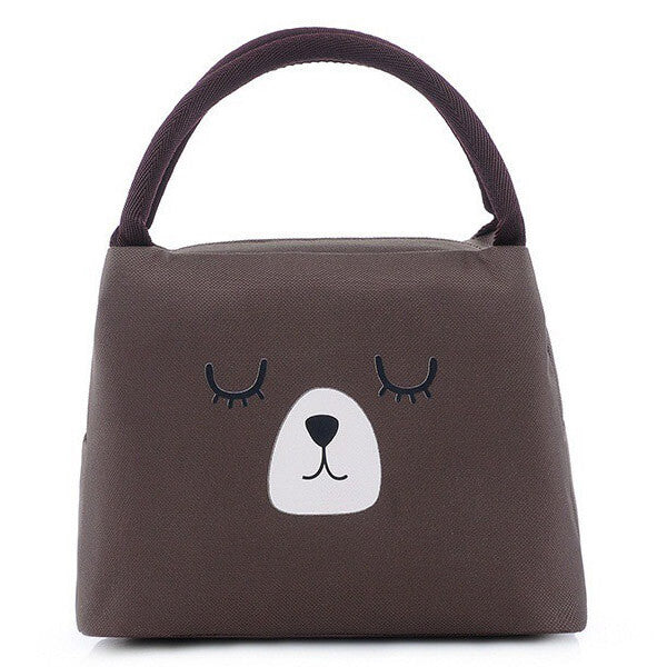 Lunch bag enfant isotherme ours brun