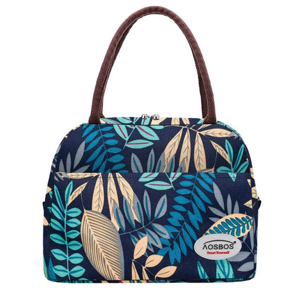 Lunch bag femme exotique bleu