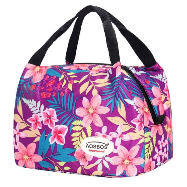 Lunch bag femme flower power