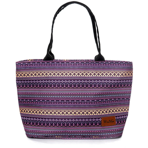 Lunch bag isotherme bohème violet