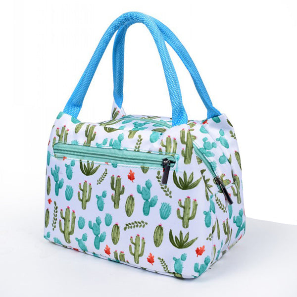 Lunch bag isotherme motif cactus