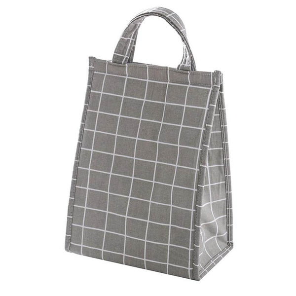 Lunch bag isotherme carreaux gris