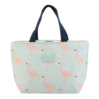 Lunch bag isotherme femme motif flamant rose