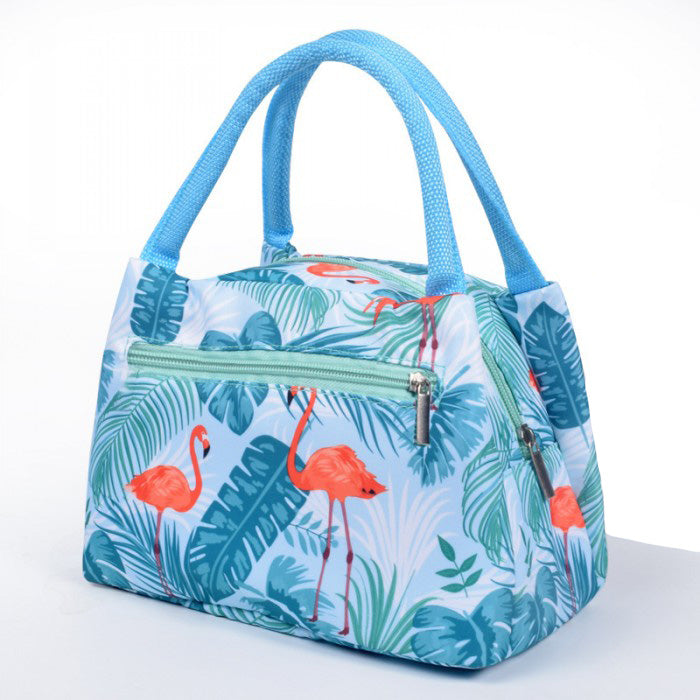 Lunch bag isotherme femme flamant rose