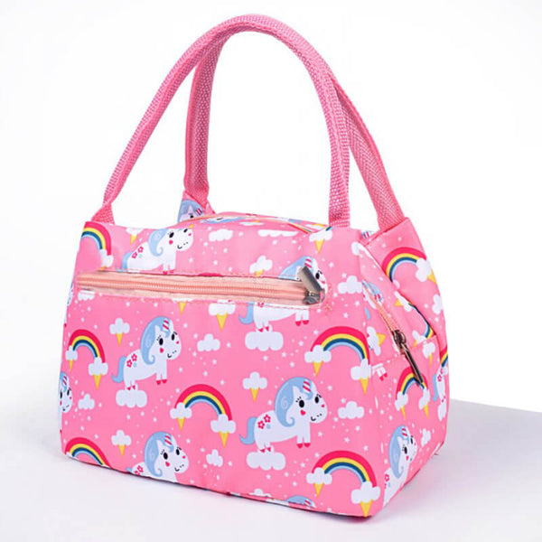 Lunch bag isotherme licorne arc-en-ciel