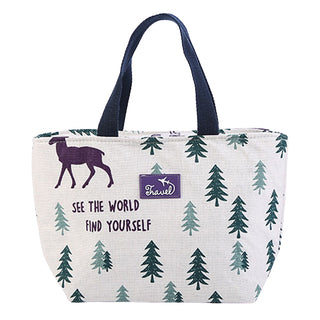 Lunch bag isotherme original motif sapin