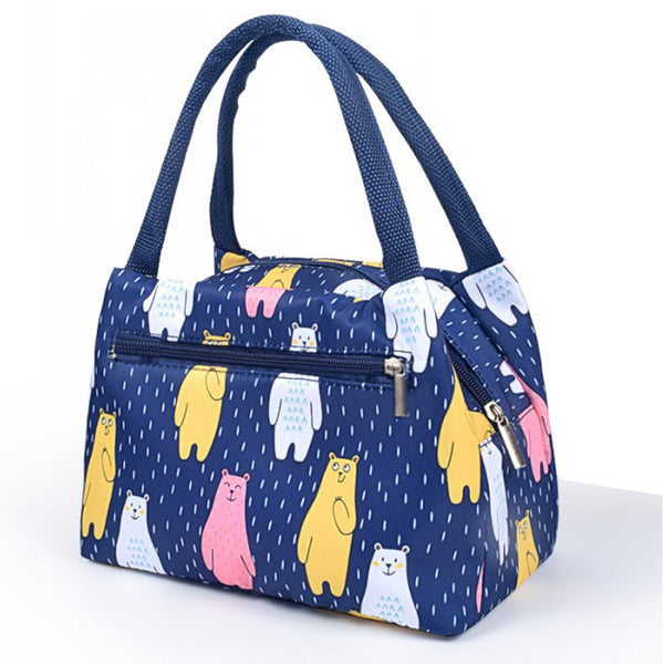 Lunch bag femme isotherme motif ours