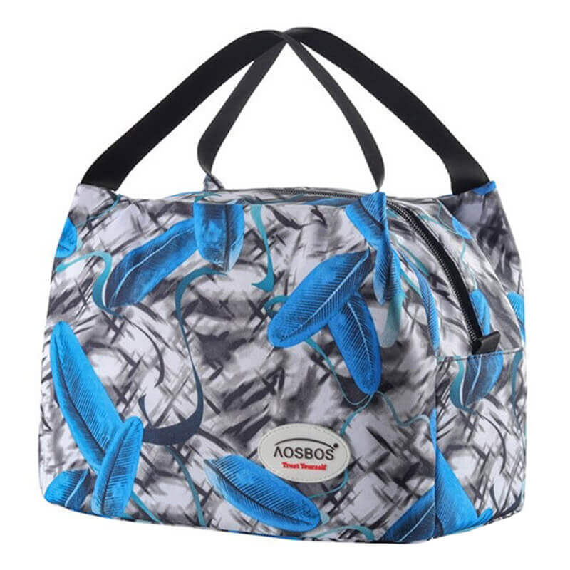 Lunch bag isotherme plume bleue