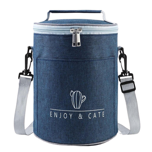 Lunch bag rond bleu