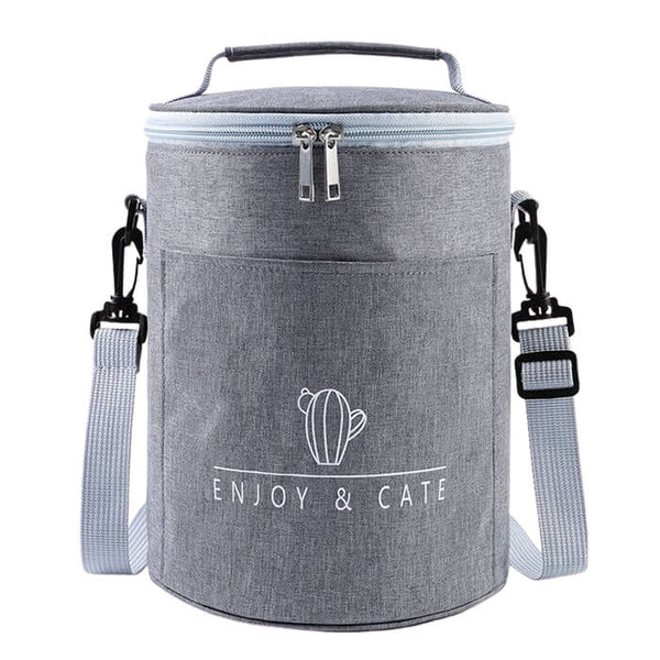 Lunch bag rond gris