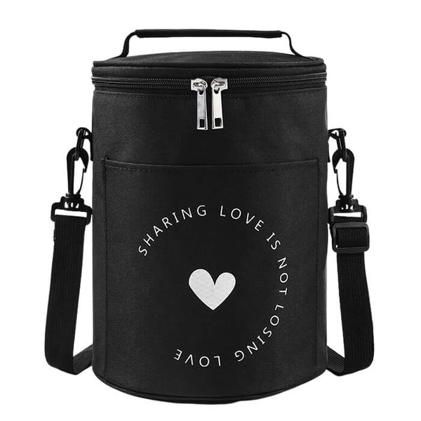 Lunch bag rond noir