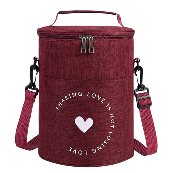 Lunch bag rond rouge