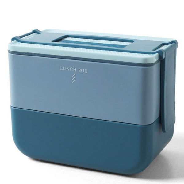 Lunch box bento bleue 600 à 1100ml