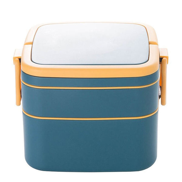 Lunch box bleue compartimentée