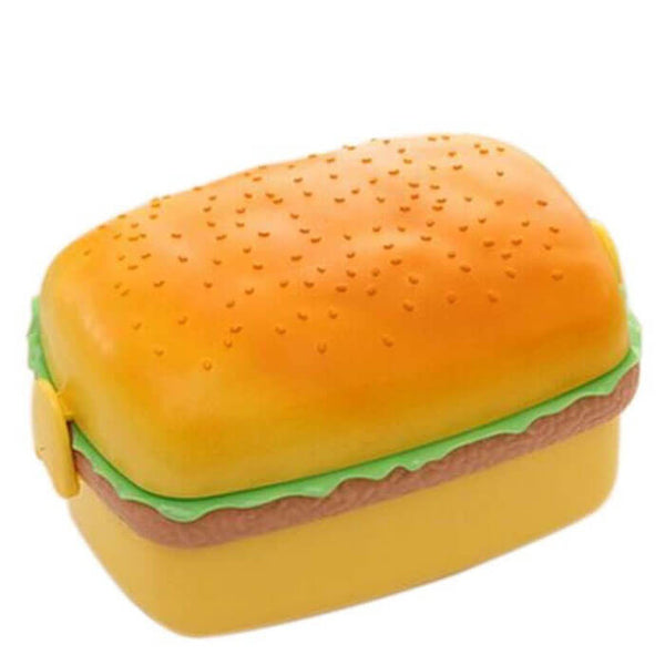 Lunch box enfant hamburger rectangle