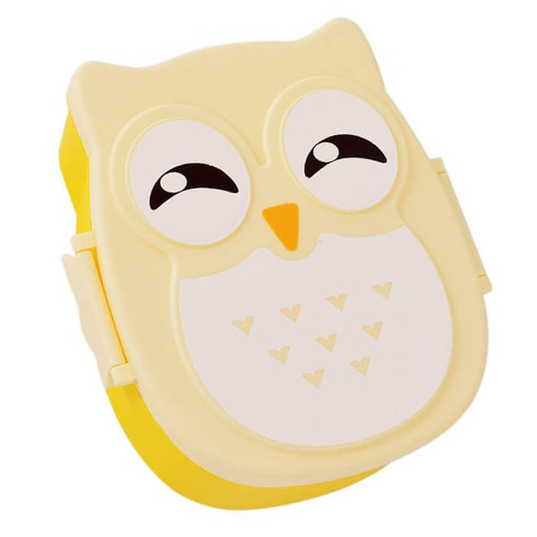 Lunch box enfant jaune hibou