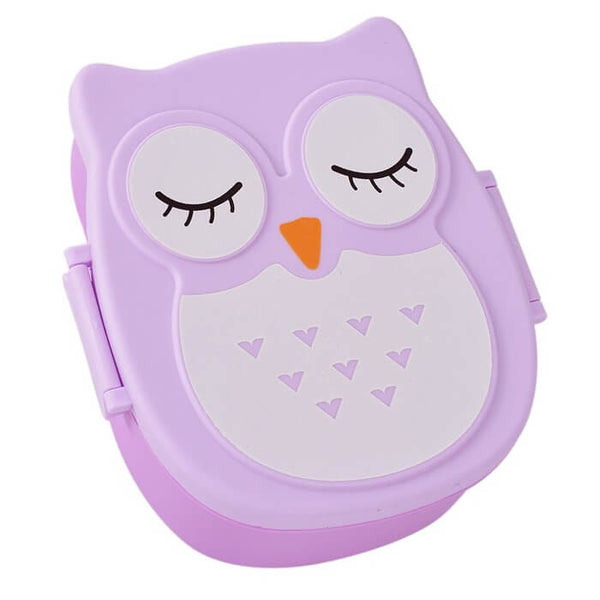 Lunch box enfant violet hibou