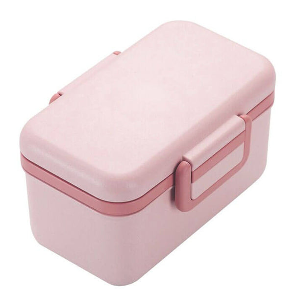 Lunch box fibre de bambou rose
