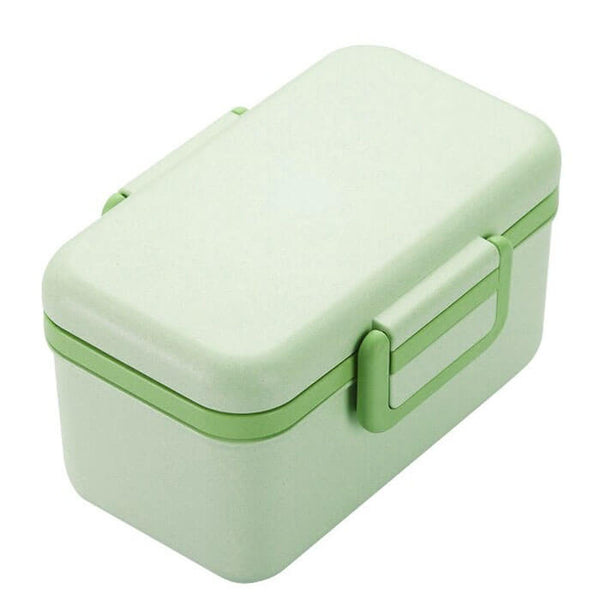 Lunch box fibre de bambou verte