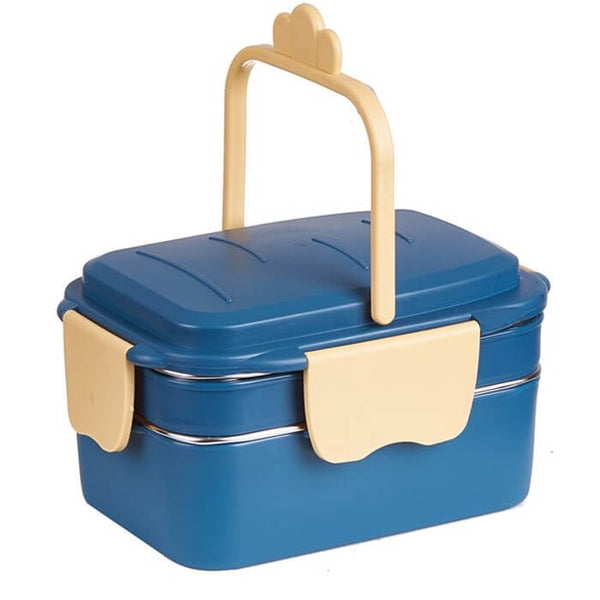 Lunch box isotherme bleue 1000ml