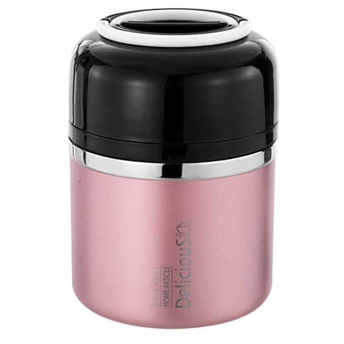 Lunch box isotherme double paroi rose