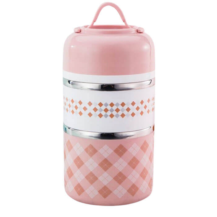 Lunch box isotherme ronde rose