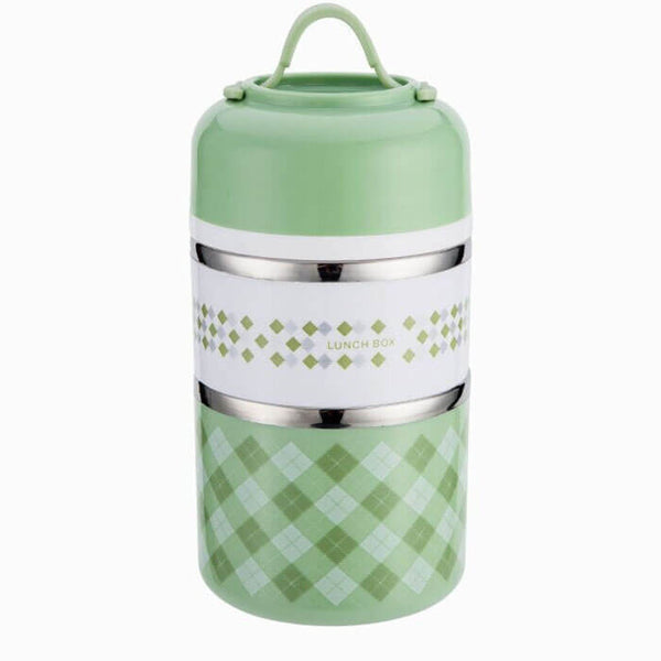 Lunch box isotherme ronde verte