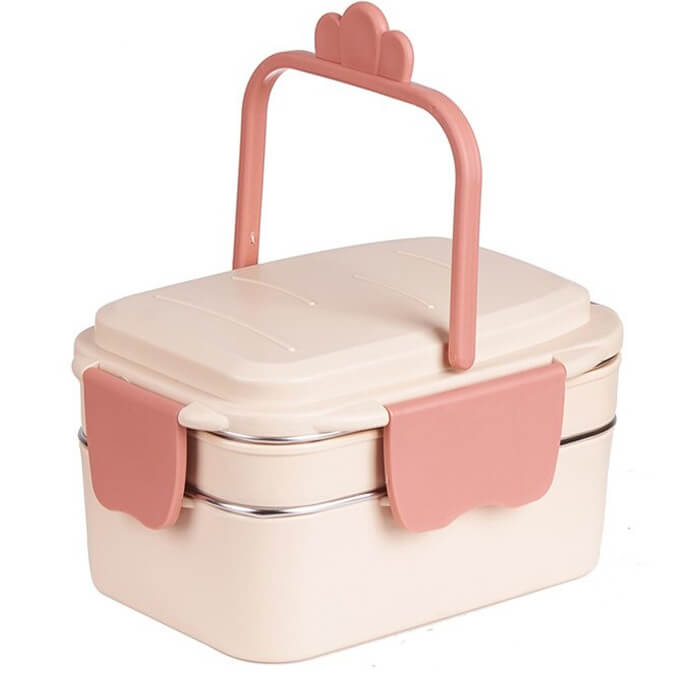 Lunch box isotherme rose 1000ml