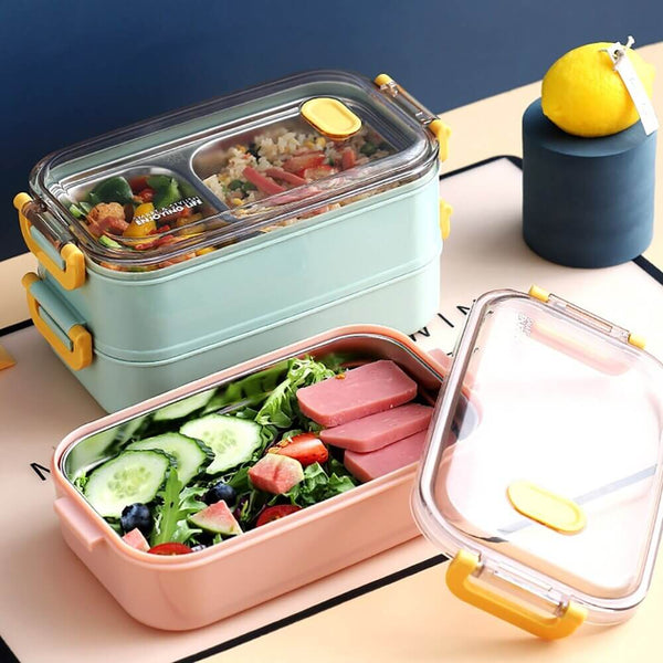 Lunch box en pp et inox isotherme