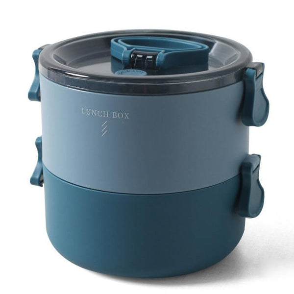 Lunch box ronde bleue 700 à 1400ml