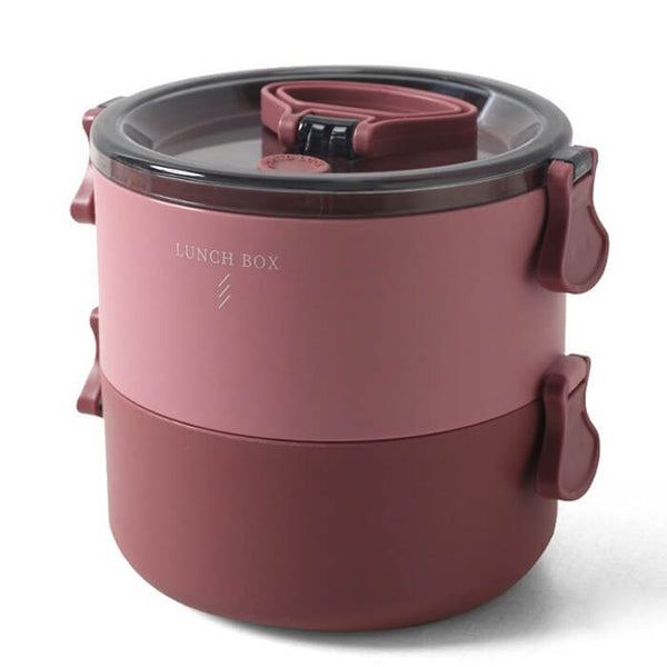 Lunch box ronde bordeaux 700 à 1400ml