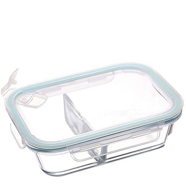 Lunch box en verre compartimentée