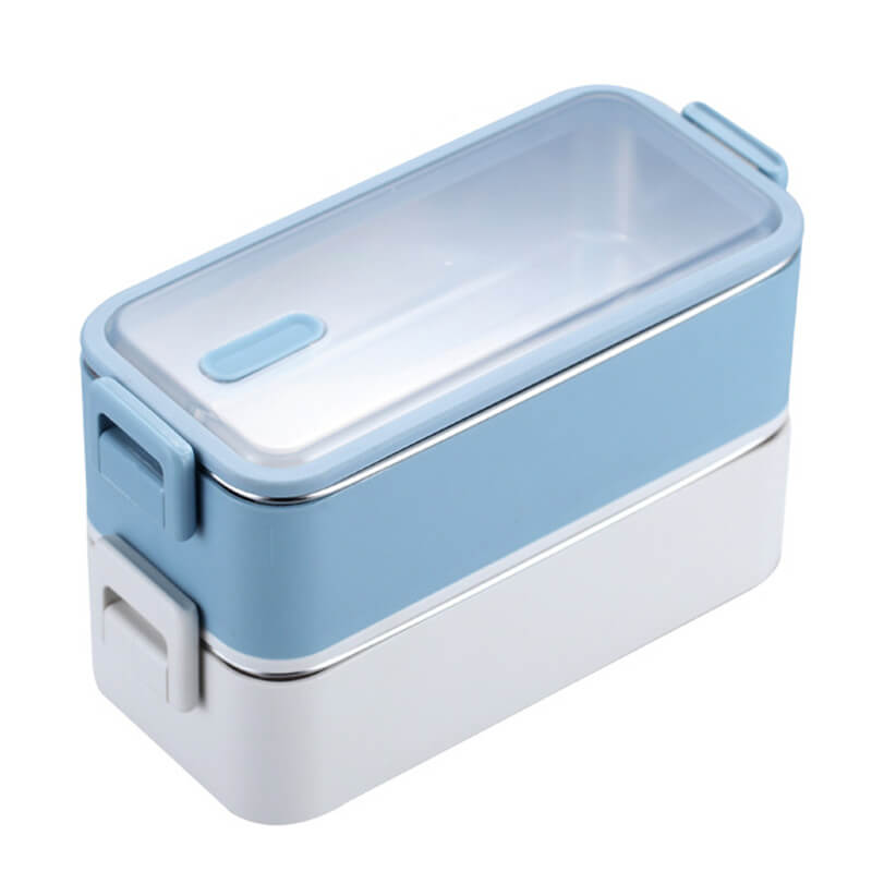 Lunch box isotherme - inox - Bleu 1100ml
