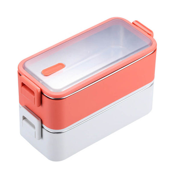 Lunch box isotherme en inox - Rouge - 1100ml