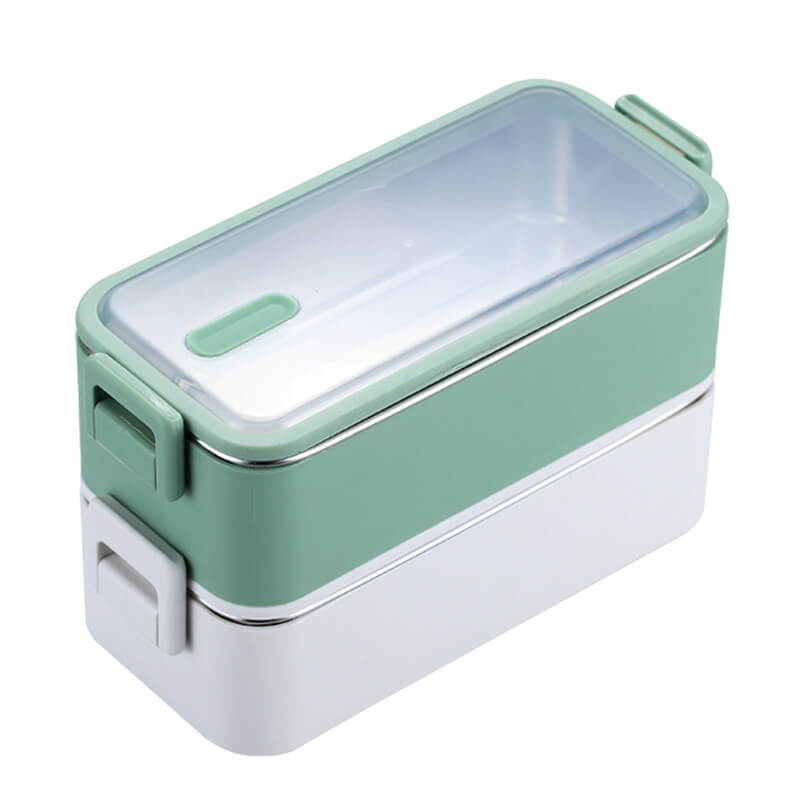 Lunch box isotherme - inox - Vert 1100ml