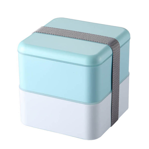 Lunch box compartimentée - 2 étages - Bleu 1200ml