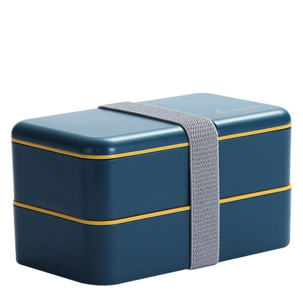 Lunch box compartimentée - Rectangle - Bleu foncé 1200ml