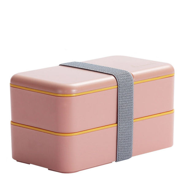 Lunch box compartimentée - Rectangle - Rose 1200ml