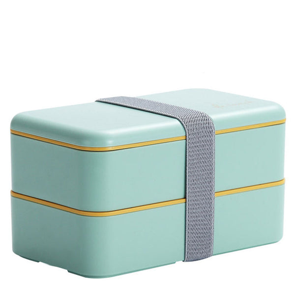 Lunch box compartimentée - Rectangle - Vert d'eau 1200ml