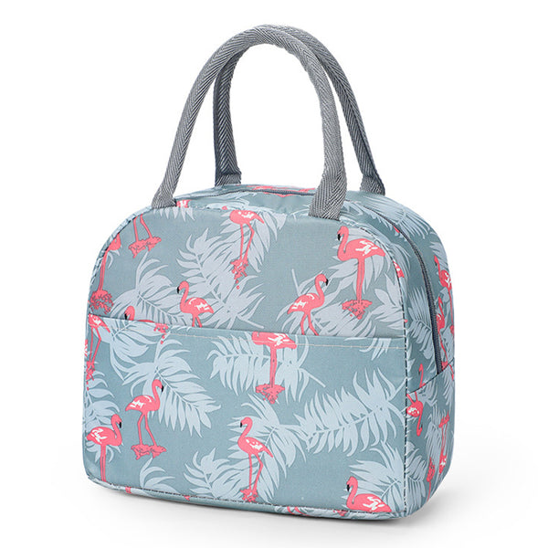 Sac lunch box femme flamant rose
