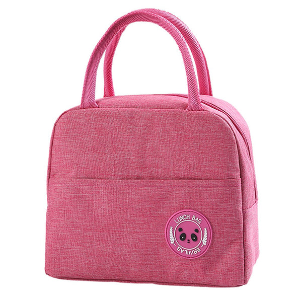 Sac lunch box femme rose