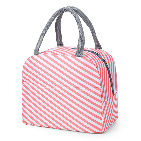 Sac lunch box isotherme blanc et rose