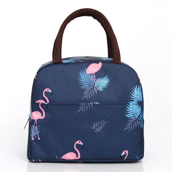 Sac lunch box isotherme flamant rose