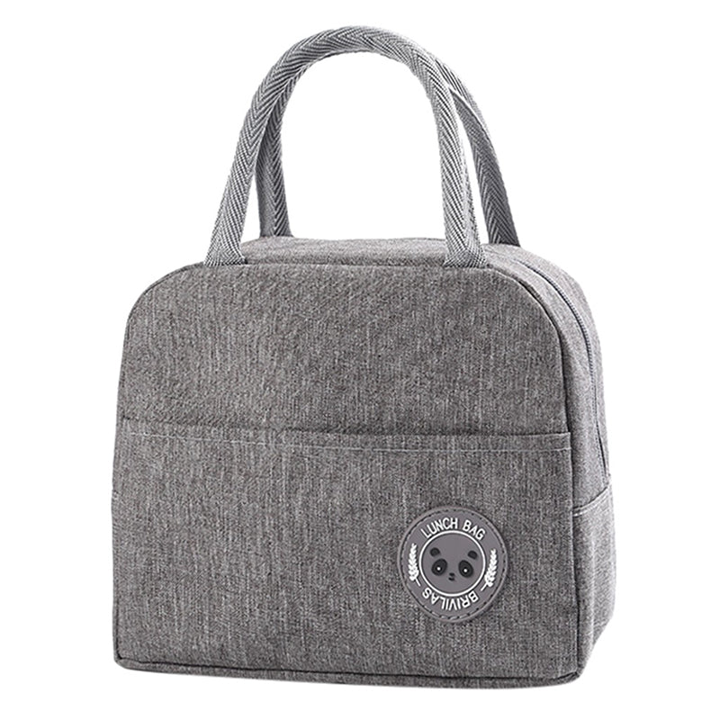 Sac lunch box isotherme gris