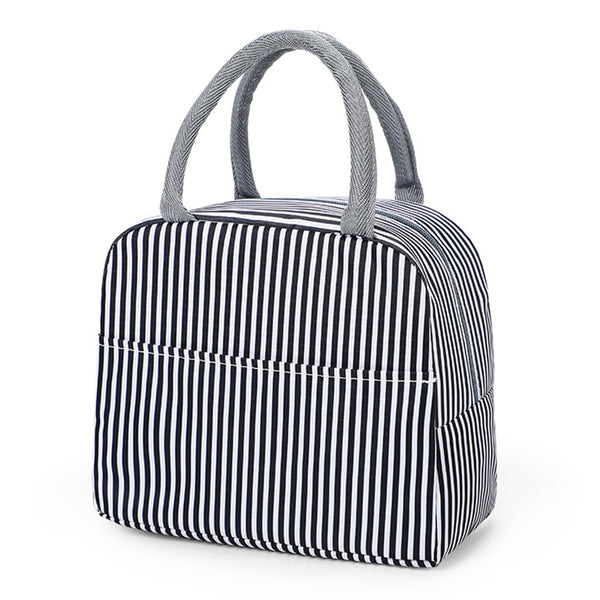 Sac lunch box isotherme noir et blanc