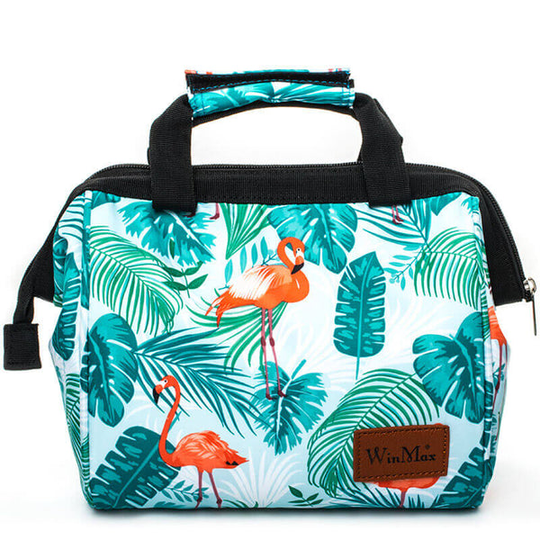 Sac lunch isotherme flamant rose